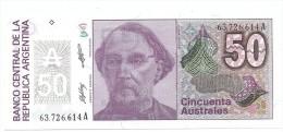 A . 1986 / 1989 - NEUF - 50  AUSTRALES - N° 63.726.614 A - - Argentine
