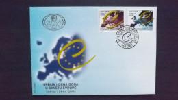 Jugoslawien 3107/8 FDC, Aufnahme Von Serbien Und Montenegro In Den Europarat - FDC