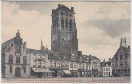 21931g THEATRE - CORP De GARDE - TOUR De L'EGLISE St. NICOLAS - CAFE - RESTAURANT - Furnes - 1909 - Veurne