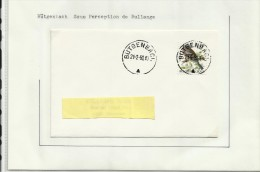 Oblitérations Postal  Butgenbach  Elsenborn - Zonder Classificatie
