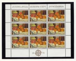 Yougoslavie Jugoslavija 1975 Europa Feuillet Sheet - 1945-1992 République Fédérative Populaire De Yougoslavie