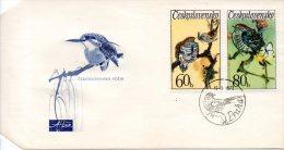 TCHECOSLOVAQUIE. N°1955-6 De 1972 Sur Enveloppe 1er Jour. Coucou. - Cuckoos & Turacos