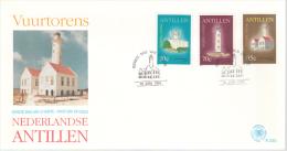 Lighthouses. Netherlans Antilles  FDC 19793 - Leuchttürme