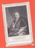 24329 Image Pieuse -dentelle - Saintete Pie IX, Pape, Signature