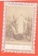 24330 Image Pieuse -dentelle - Vierge Apparait En France (peu Lisible) Jeanne D'Arc ?? - Images Religieuses