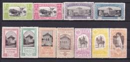 1906 Romania Roumanie Rumania -  Expo Bucharest Full Set Cat. Value 235 $ Yvert 192/202 Michel 197/207 MH - 1881-1918: Carol I