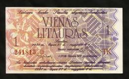 Lithuania - 1 LITAURAS (1991) - Lituania