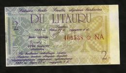 Lithuania - 2 LITAURU (1991) - Lituania