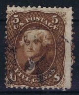 USA  Yv Nr 21a Brunrouge Used  1861 - 1847-99 Algemene Uitgaves