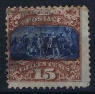 USA  Yv Nr 35I, Mi Nr 32 I  1869  Used , Signed/ Signé/signiert/ Approvato BRUN - Gebruikt