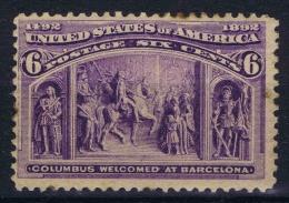 USA  Yv Nr 86, Mi Nr 78, Sc 235 1893 MH/* - Unused Stamps
