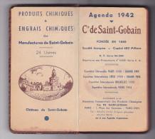 Agenda Manufacture Saint Gobain France  Industrie Chimiques -1942 -usine - Publicités
