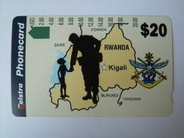 RWANDA - D3 - Tamura - Soldier And Boy - $20 - VF Used - Rwanda