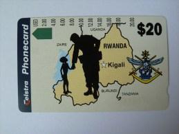 RWANDA - D3 - Soldier And Boy - $20 - Rwanda