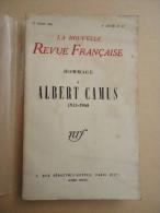 Revue Littéraire - La Nouvelle Revue Française - No 87 - 1er Mars 1960 - Hommage à Albert Camus 1913-1960 - Livres, BD, Revues