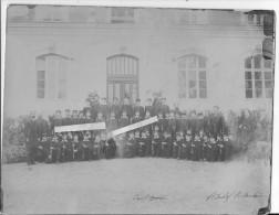 Groupe D´élèves D´un Bataillon Scolaire école Franco-américaine Paris? Union Franco-américaine 1 Photo 1914-1918 Ww1 Wk1 - War, Military