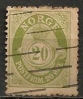 Timbres - Norvège - 1921/29 - 20 Ore -
