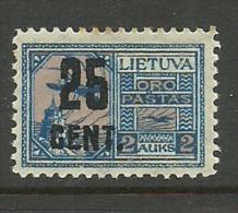 LITAUEN Lithuania 1922 Michel 182 * - Lithuania