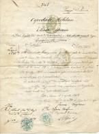 Roma 1868 Vatican Avis Décès G. Kriezenaer Reggimento Zuavi Zouave Orig. De Gemmenich (P) Et Baelen (M) Cachet - Historical Documents
