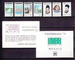 Mexico 1979,8V/2Bl,small Collection,kleine Collectie,kleine Kollektion,petite Collection,MH/Ongebruikt( A1448) - Mexico