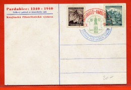 BOHEME ET MORAVIE CARTE DE 1940 DE PARDUBICE - Bohemia Y Moravia