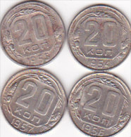 4  X 20 KOPEK / 19541955 1956 1957 - Russia