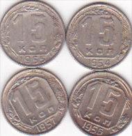 4  X 15 KOPEK / 19541955 1956 1957 - Russia