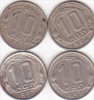 4  X 10 KOPEK / 19541955 1956 1957 - Rusland