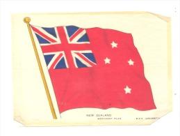 B.D.V. Cigarettes - Drapeau Imprimé  Soie Ou Tissu Satiné ( 11 X 16 Cm) NEW ZEALAND - Nouvelle Zélande - Cigarettes - Accessoires