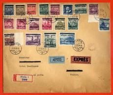 BOHEME ET MORAVIE LETTRE RECOMMANDEE EXPRES DE 1939 DE PRAGUE POUR JUAN LES PINS FRANCE - Bohemia Y Moravia