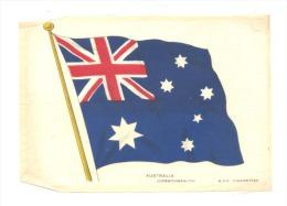 B.D.V. Cigarettes - Drapeau Imprimé  Soie Ou Tissu Satiné ( 11 X 16 Cm)  - AUSTRALIA - Australie - Cigarettes - Accessoires