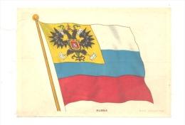 B.D.V. Cigarettes - Drapeau Imprimé  Soie Ou Tissu Satiné ( 11 X 16 Cm)  - RUSSIA - Russie - Other