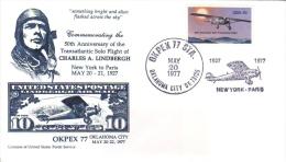 US  -  Premier Jour  -  Charles Lindbergh  -  Premier Vol Transatlantique   -  FDC - Aerei