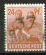 """SBZ 1948: 24 pf mit Bez.-Aufdr. \""""37 Schwerin\"""", postfrisch, BPP-gepr�ft, Michel-r. 174 VIII   **"""