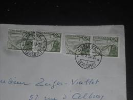 LETTRE SUISSE HELVETIA SWITZERLAND SCHWEIZ AVEC YT 483 X 4 - TRAIN LOCOMOTIVE ROCHERS DE NAYE - GENEVE - - Switzerland