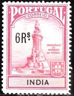 ÍNDIA -1925, (IMP. POSTAL) Monumento Ao Marquês De Pombal. 6 R. (MONUMENTO)  (*) MNG  Afinsa  Nº 5 - Portuguese India