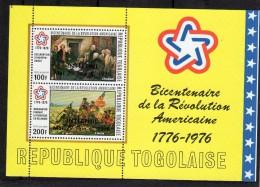 Togo : Bloc N°92 **   Bicentenaire De La Révolution Américaine - Togo (1960-...)