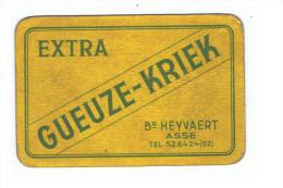 67b 1 enkele Speelkaart  Brij. Heyvaert Asse (vuil zie scan)