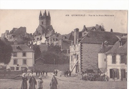 24348 QUIMPERLE ... VUE DE LA PLACE NATIONALE -458 Villard Costume Breton  -karten Bost - - Quimperlé