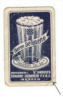 94b 1 Losse Speelkaart Brij.St Andries Dehaene Merkem (Plooi +ouderdomtekens zie pijl)