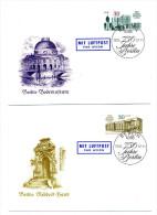 750 JAHRE BERLIN: 2 Schmuckbriefe DDR I - Briefe U. Dokumente