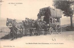 ¤¤   -  325   -  Le Velay Illustré   -  La Malle-Poste Des Cévennes , Sur La Route De Pradelles     -  ¤¤ - France