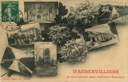 93   AUBERVILLIERS    JE VOUS ENVOIE MON MEILLEUR SOUVENIR  (DIFFERENTES VUES ) - Aubervilliers