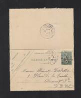 Carte-Lettre Taxe Reduite 1906 St. Denis - Ganzsachen