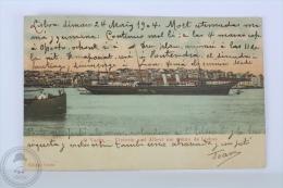 Old Postcard - Portugal Ship - O Yacht, Victoria And Albert Em Frente De La Lisboa - Posted 1904 - Barcos