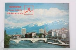 France Postcard - Grenoble - Coupe Davis France - USA - Tenis