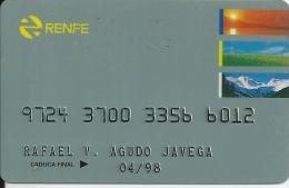 Card RENFE - Spain Train - Ferrocarriles Españoles - Bahn Karte - Unclassified