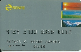 Card RENFE - Spain Train - Ferrocarriles Españoles - Bahn Karte - Otras Colecciones
