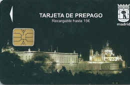 Parking Card Madrid - Spain . Palace Real Picture - Season Ticket