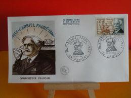 FDC- Gabrielle Fauré 1845-1924, Compositeur Français - 09 Pamiers - 25.6.1966 - 1er Jour, Cote 2,50 € - FDC
